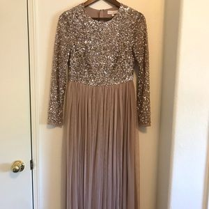 ASOS Blush Taupe Sequin Dress - Maya Deluxe